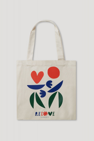 Relove Tote Bag Green-Blue-Red