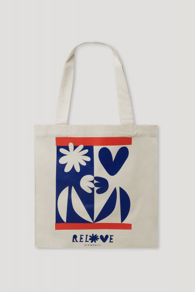Relove Tote Bag Blue-Red