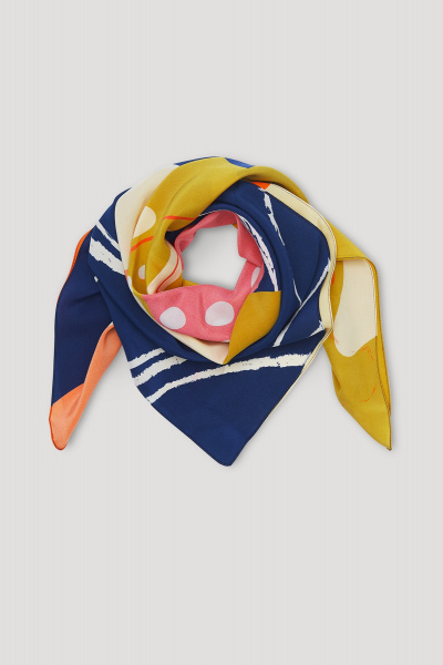 SILK SCARF Yellow